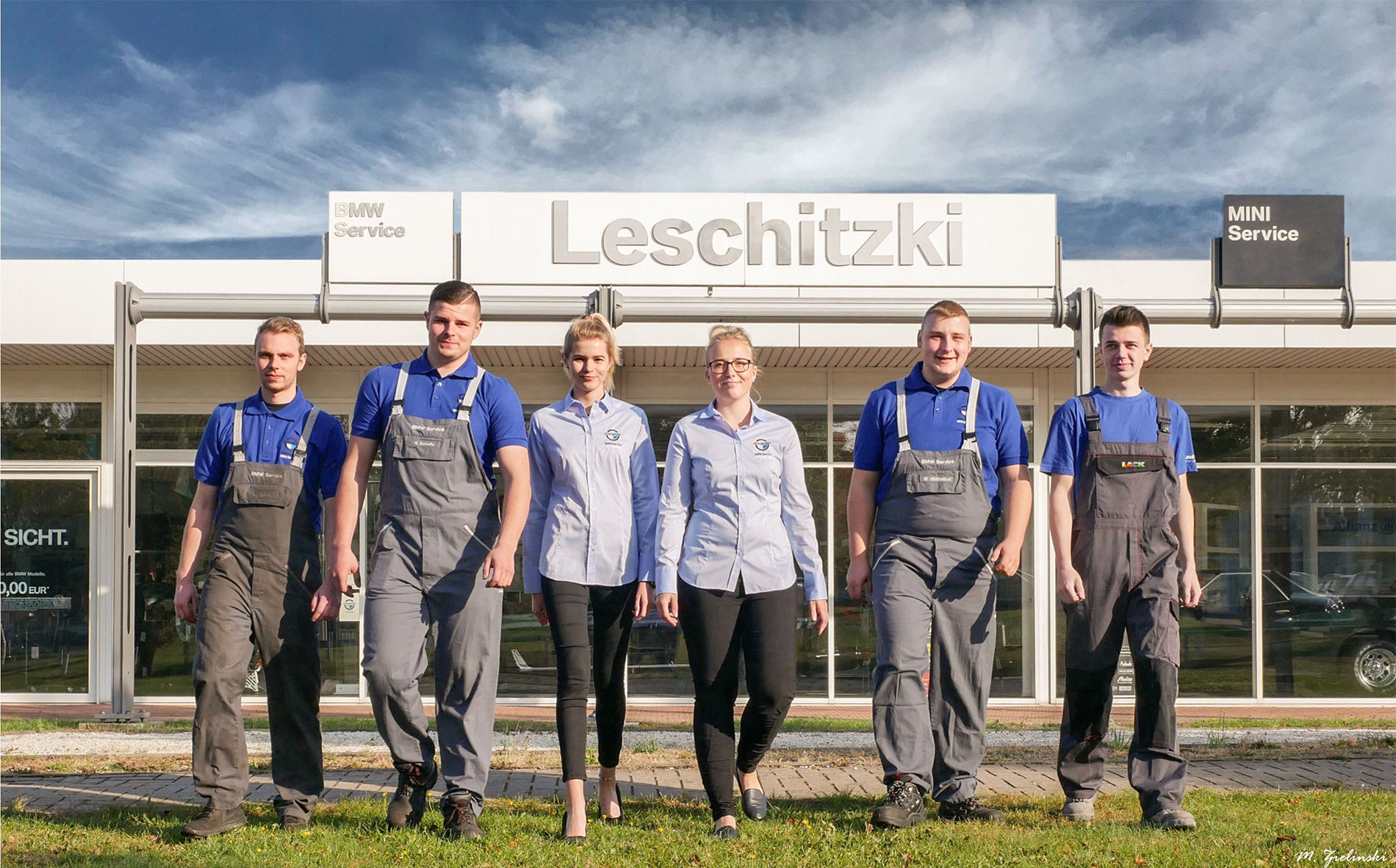 Auszubildende im Autohaus Leschitzki 2018