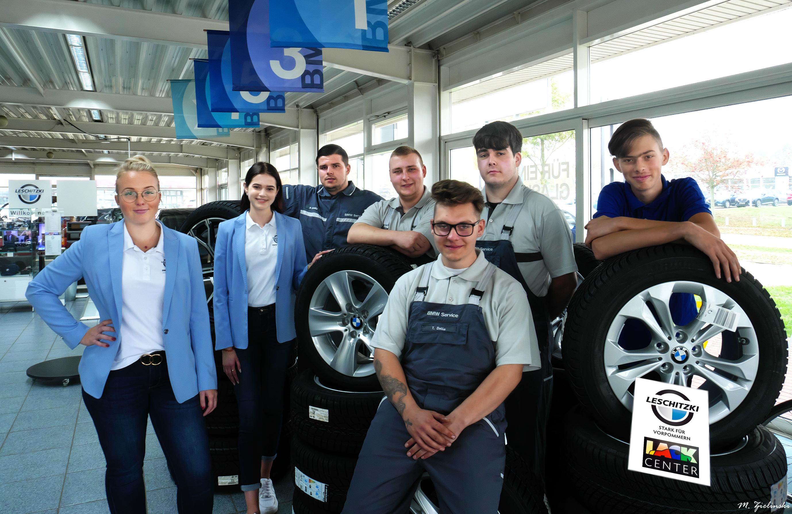 Auszubildende 2019 im Autohaus Leschitzki