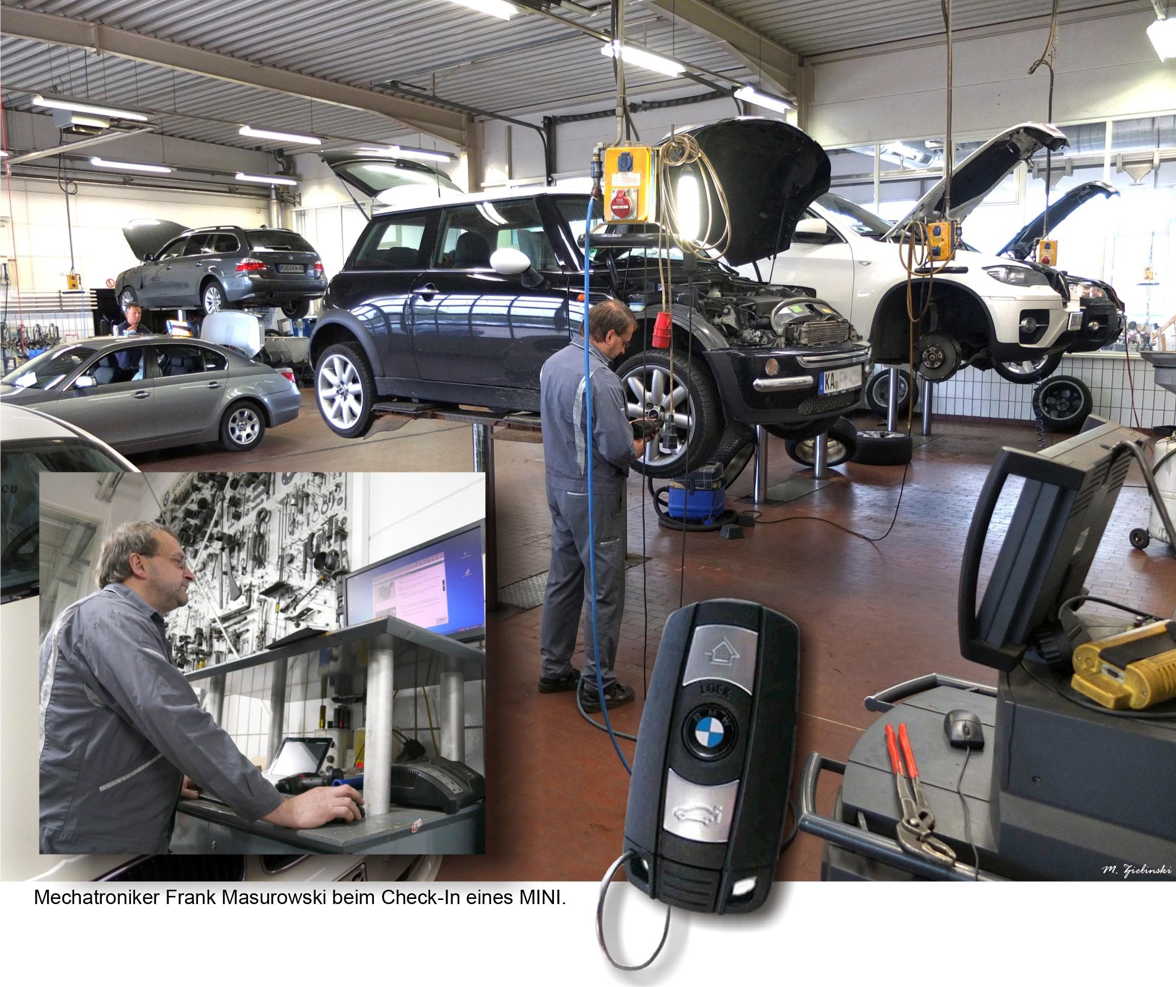 Check-in und Radwechsel im Autohaus Leschitzki