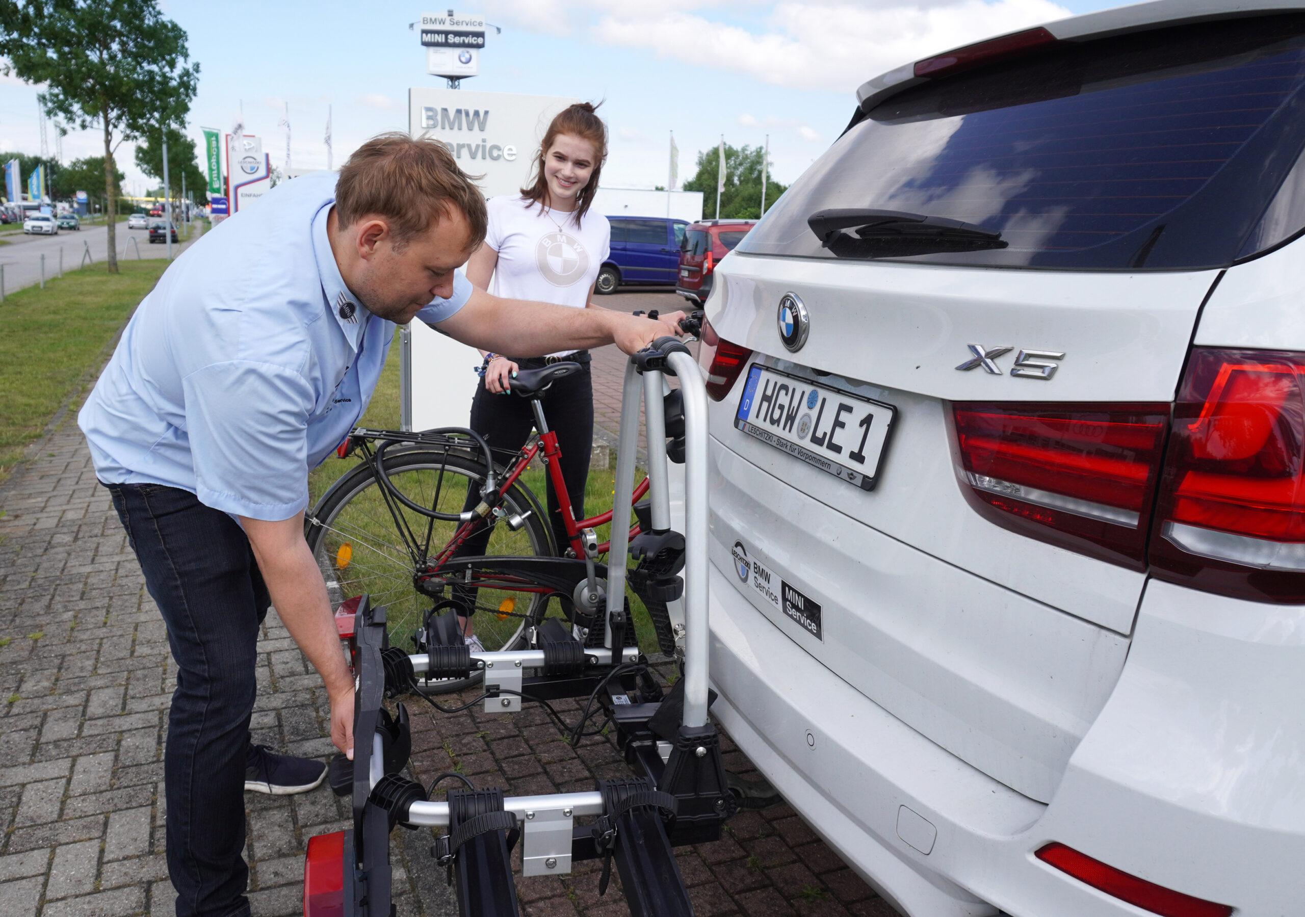 Fahrradträger erweitert Erlebnisbereich